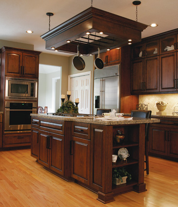 contrasting wood tones - Great Kitchen Ideas