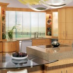 Curved Wood and Glass Modern